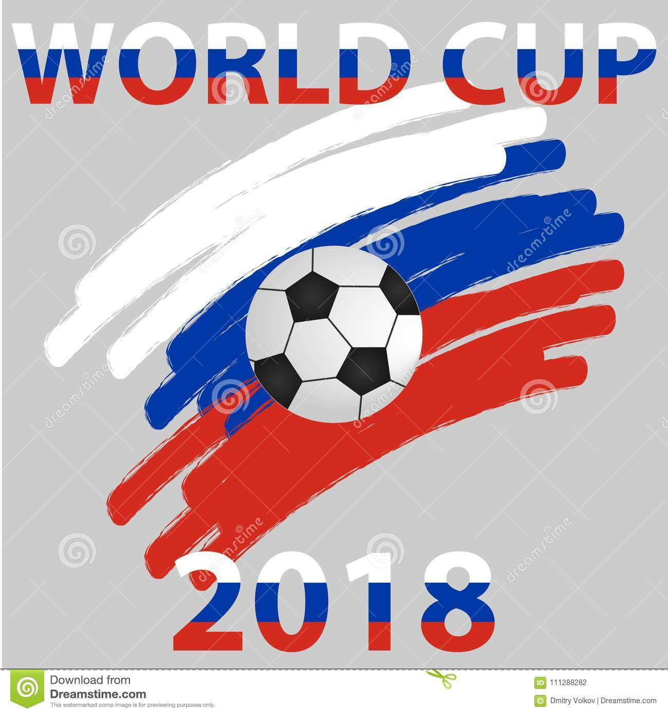 Logo of the World Cup 2018. Badge of the World Cup.