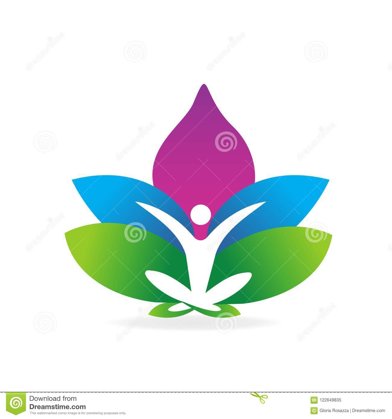 Logo yoga man lotus flower symbol stock vector illustration of logo yoga man lotus flower symbol mightylinksfo