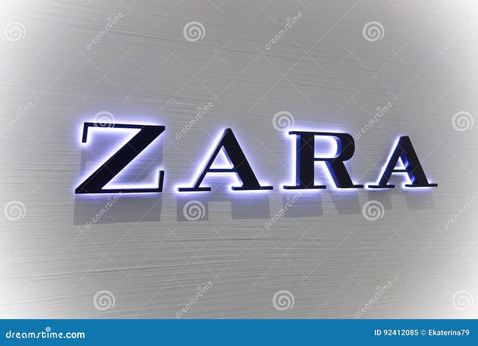 Logo Zara On White Wall Editorial Image Image Of Cyprus 92412085