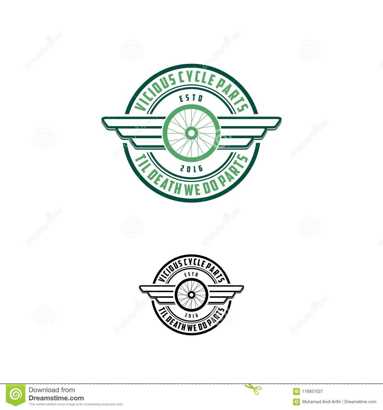 Circle Part With Wings Logo Vector Stock Vector