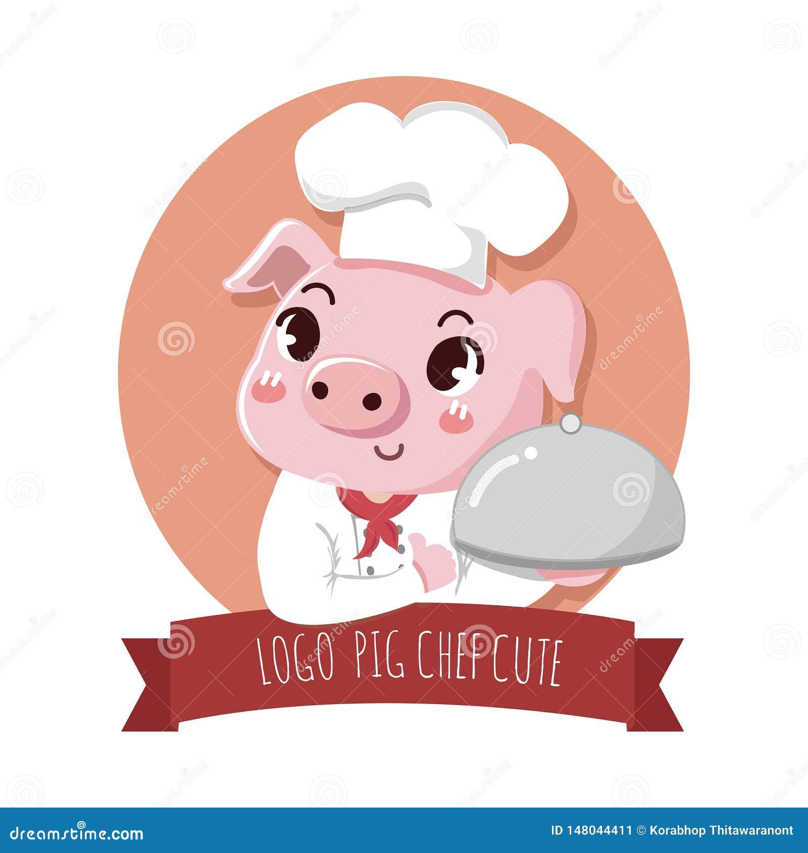 Logochef-Schwein netter Signage