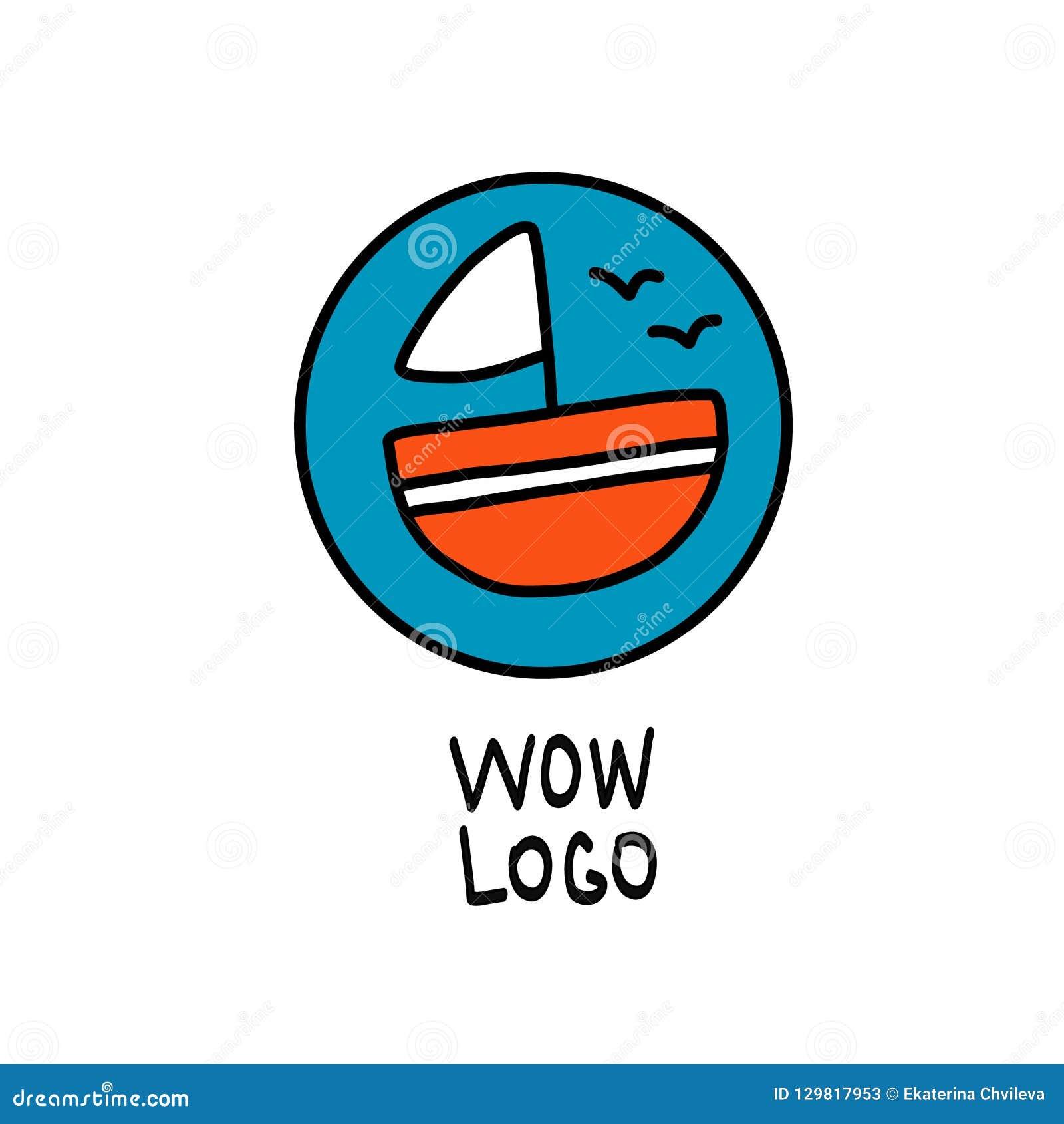 Logoen på temat av sommaren och turismen