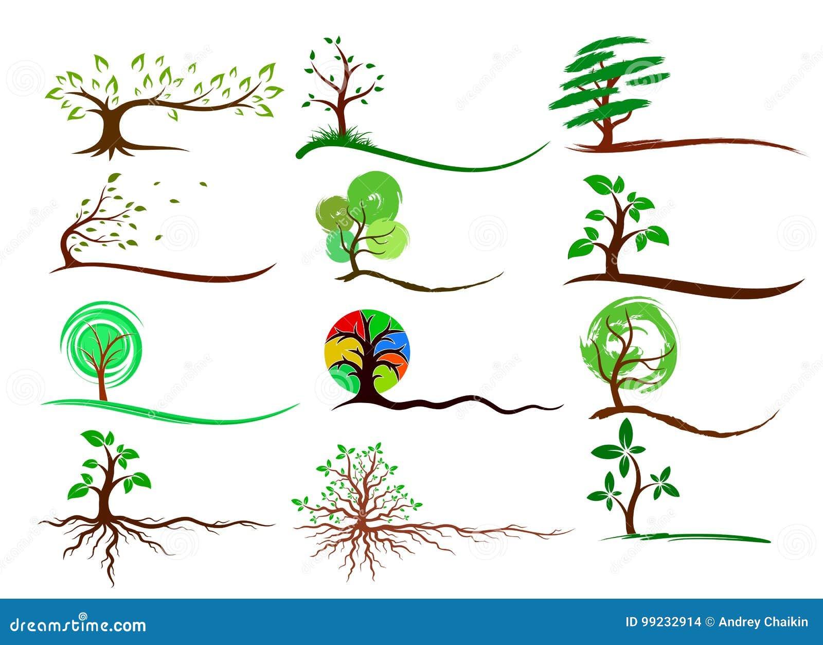 Logoer av träd
