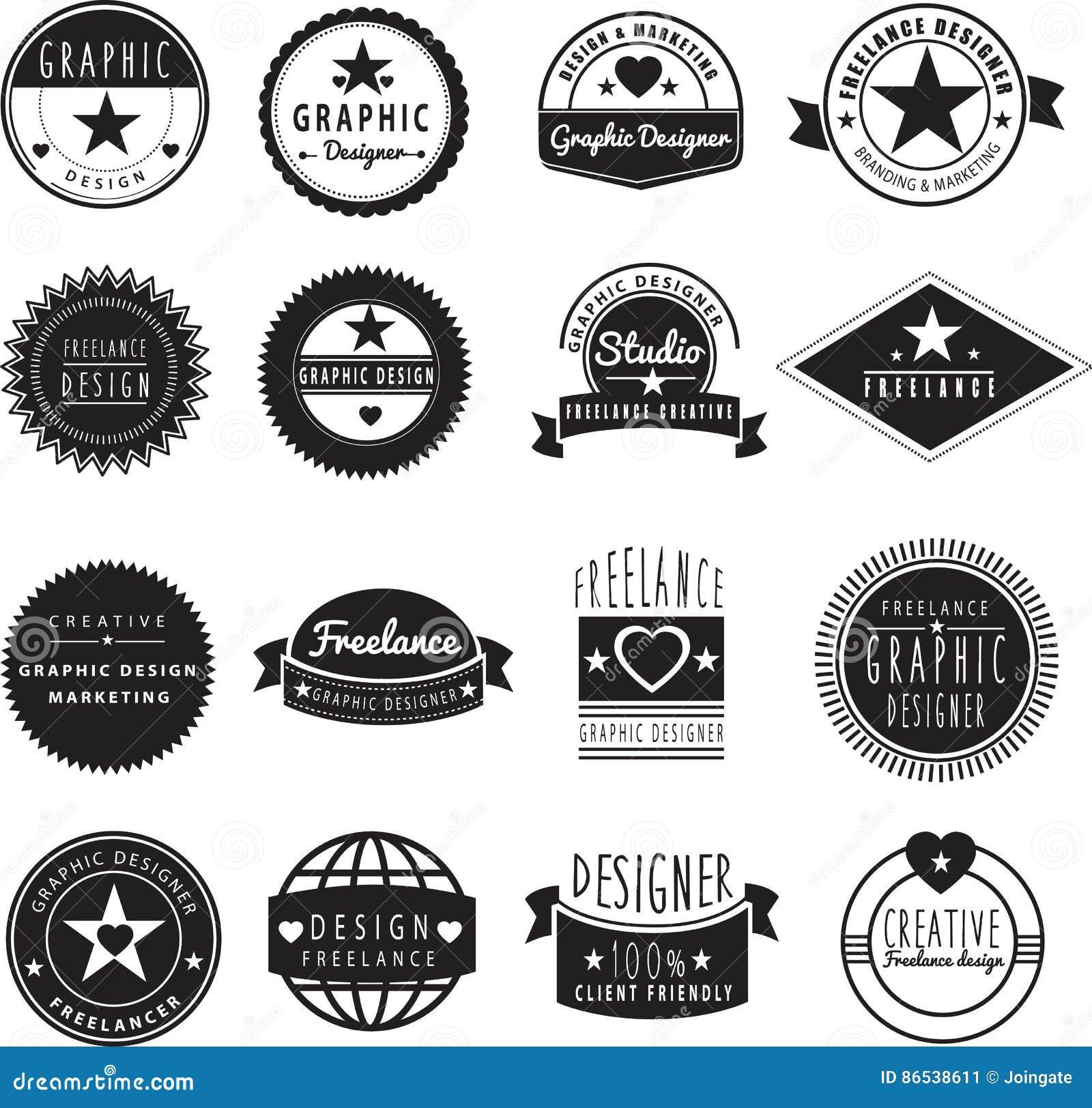 Logomall för grafisk formgivare eller frilans