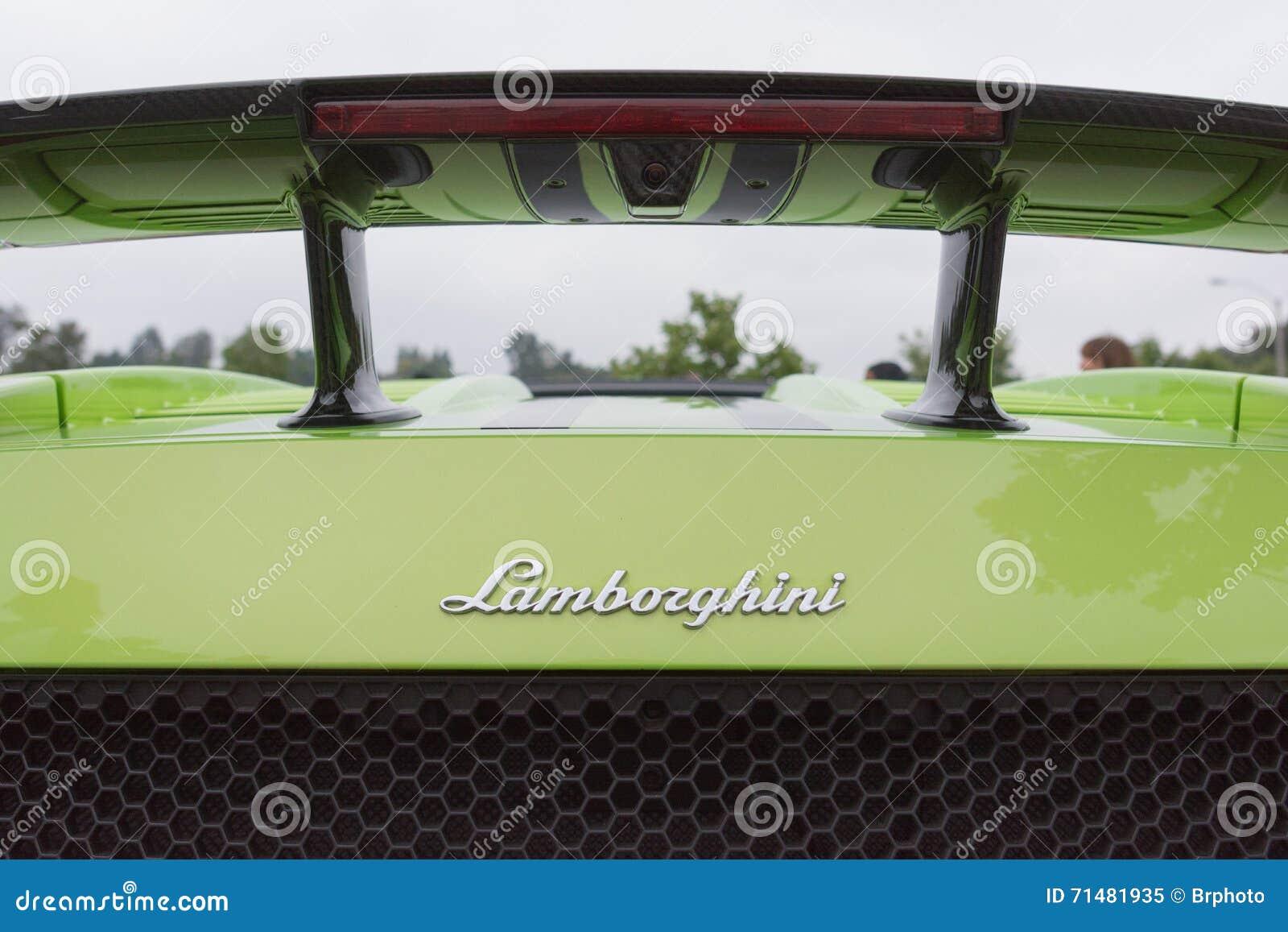 Logorückseite Lamborghinis Gallardo