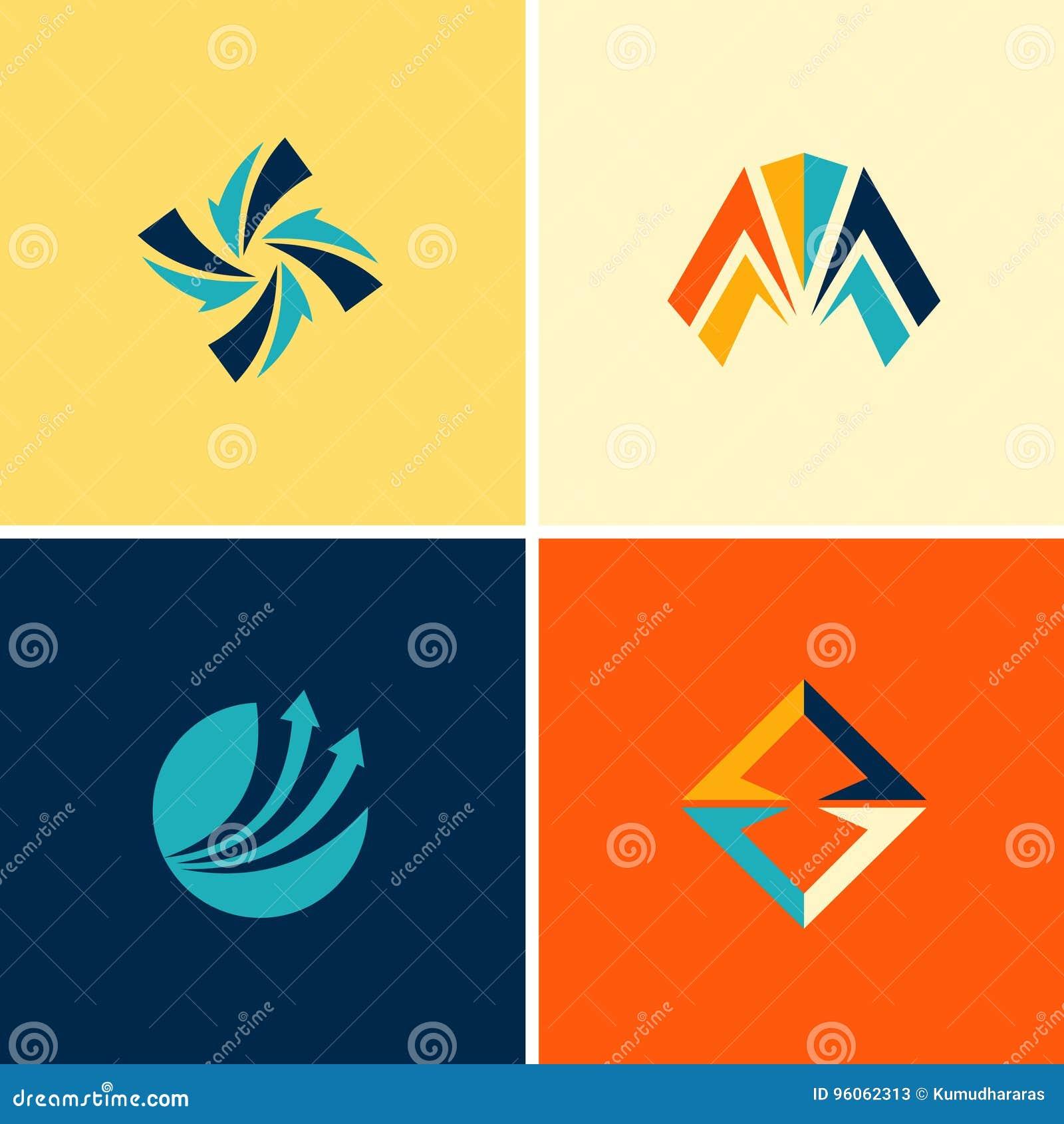 Logos abstraits de flèche