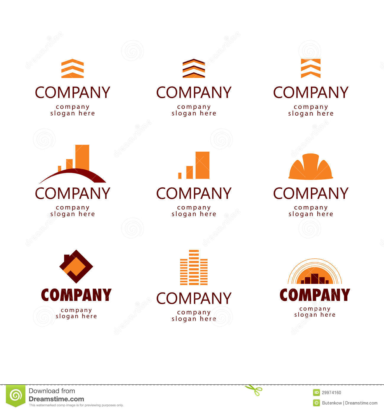Logos for architectural construction and real estate companies