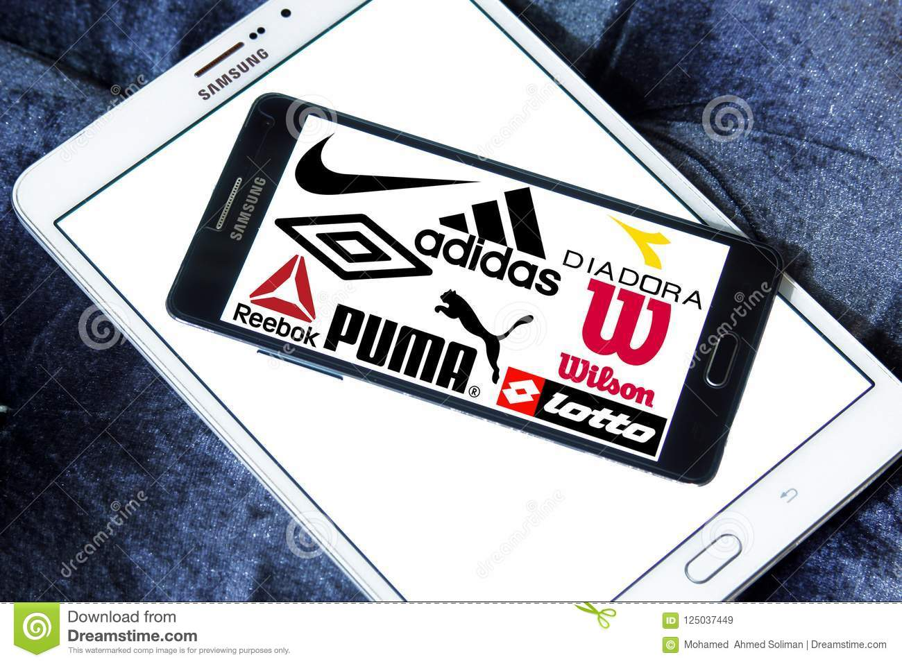 d80854890 Logos and brands of most famous and popular sportswear companies on samsung  mobile. sporting brands like nike, adidas, puma, asics, fila, reebok,  diadora, ...