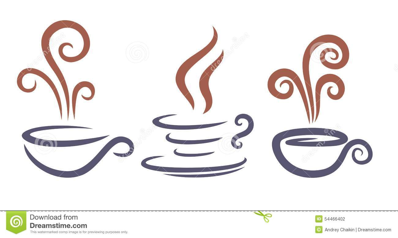 Logos Of Coffee Cups Stock Vector Image 54466402