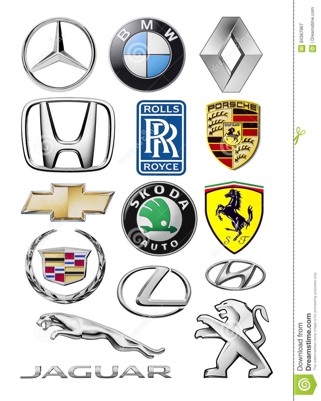 types of car logos clipart vector labs