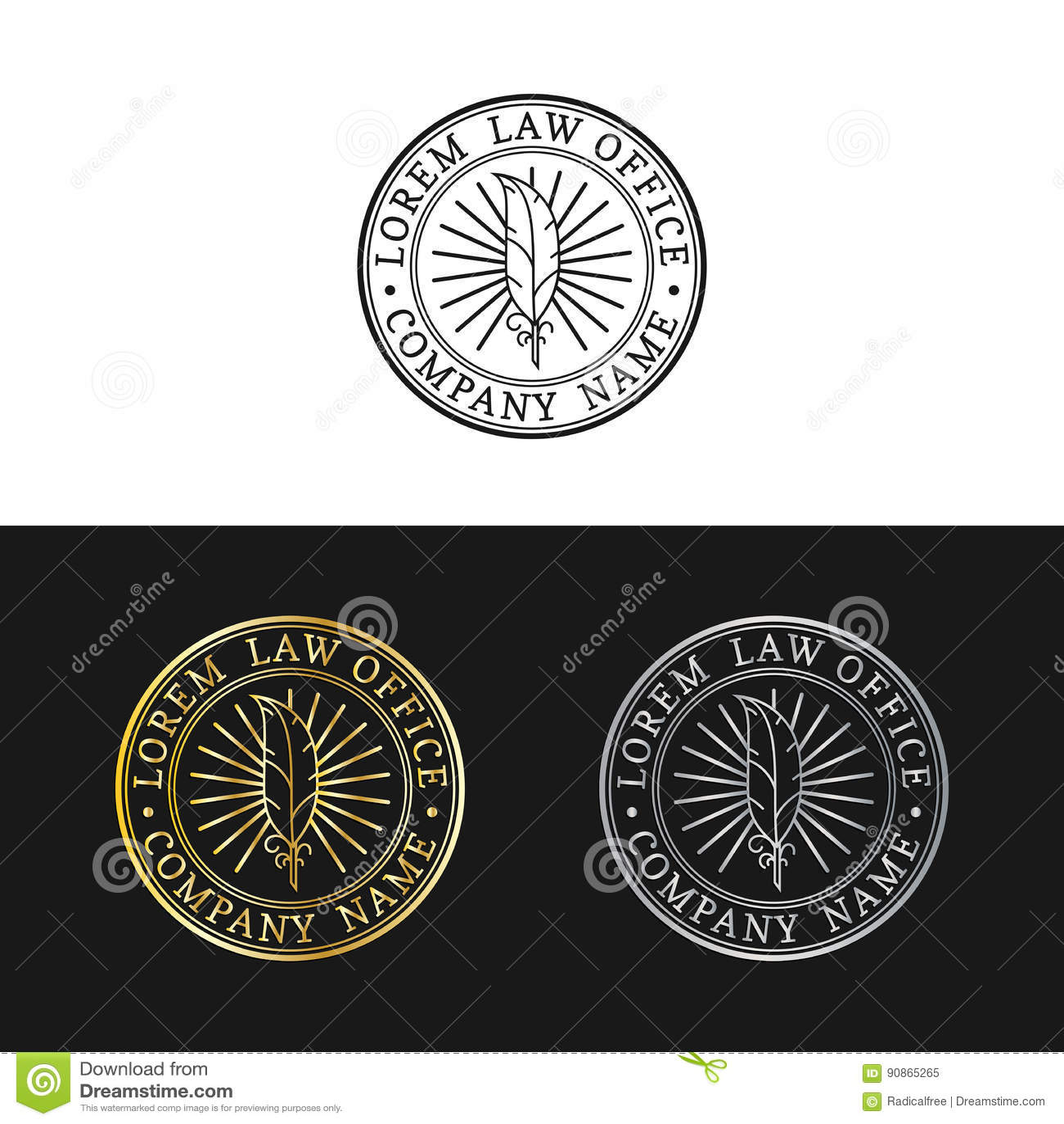 Logos de cabinet juridique réglés Dirigez la mandataire de vintage, labels d avocat, insignes fermes juridiques Acte, principe, c