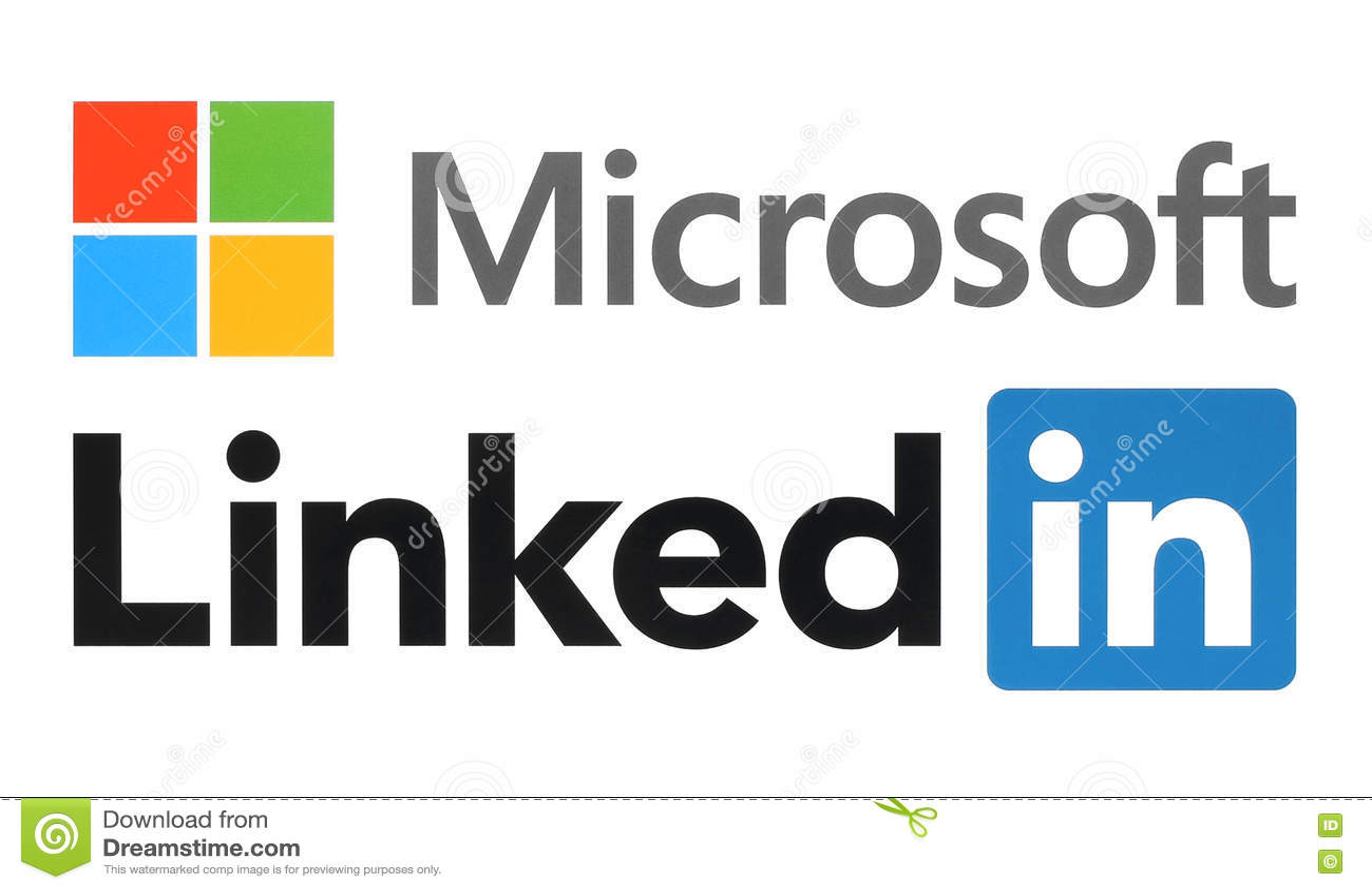 Logos de Microsoft et de Linkedin
