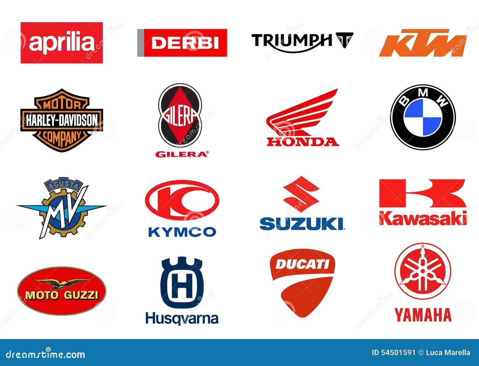 Logos de producteurs de motos