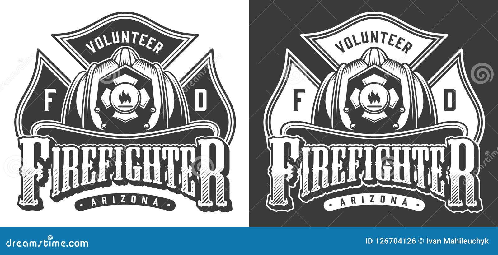 Logos de sapeur-pompier de vintage