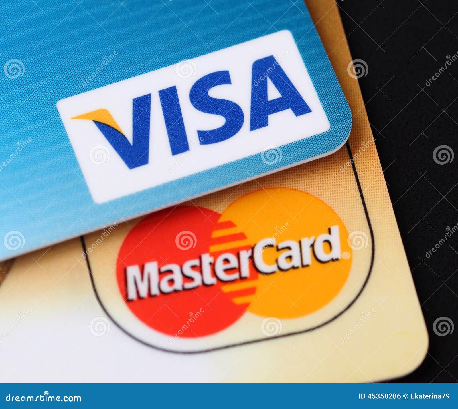Logos de visa et de MasterCard