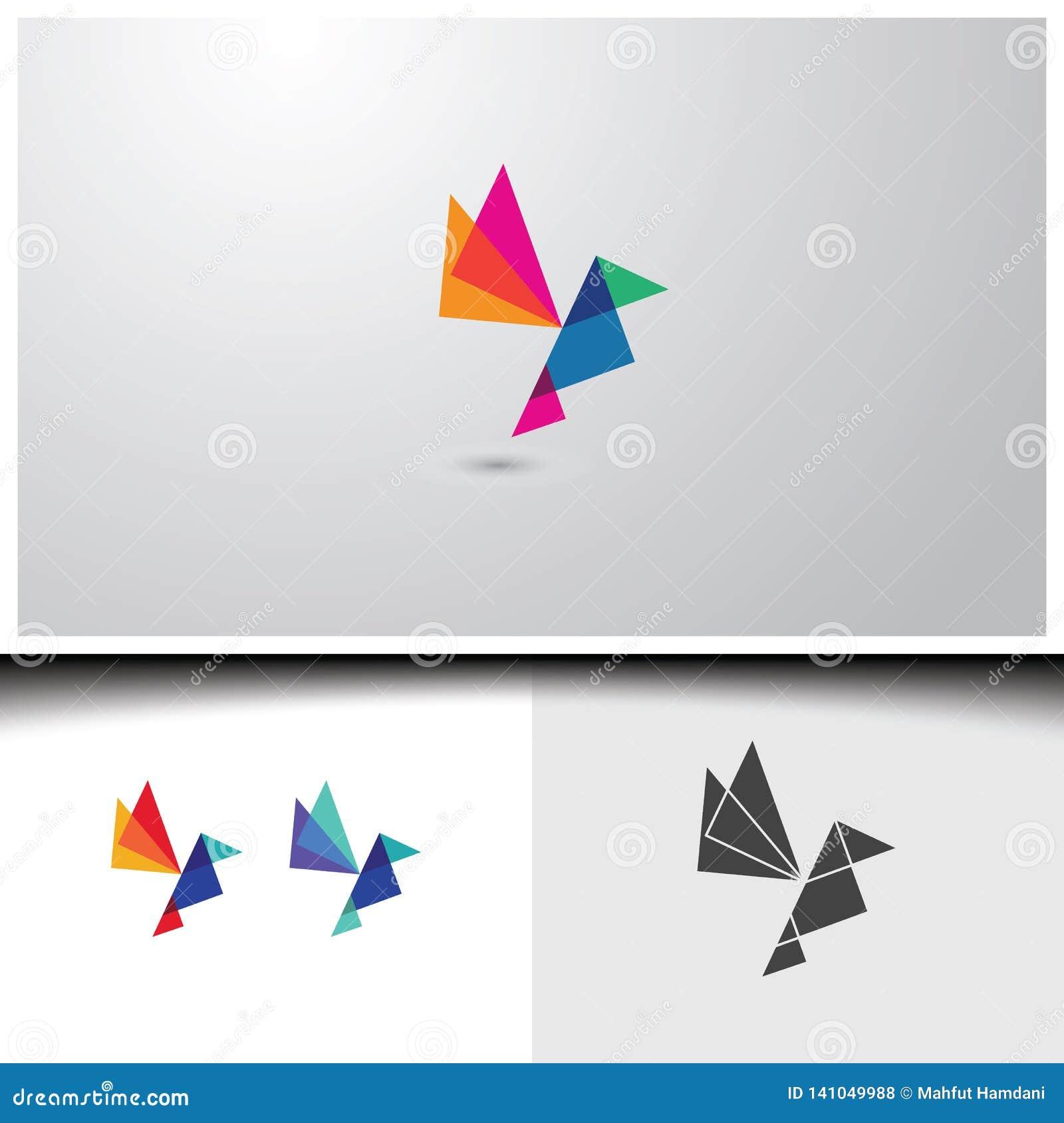 Logos dell uccello della geometria