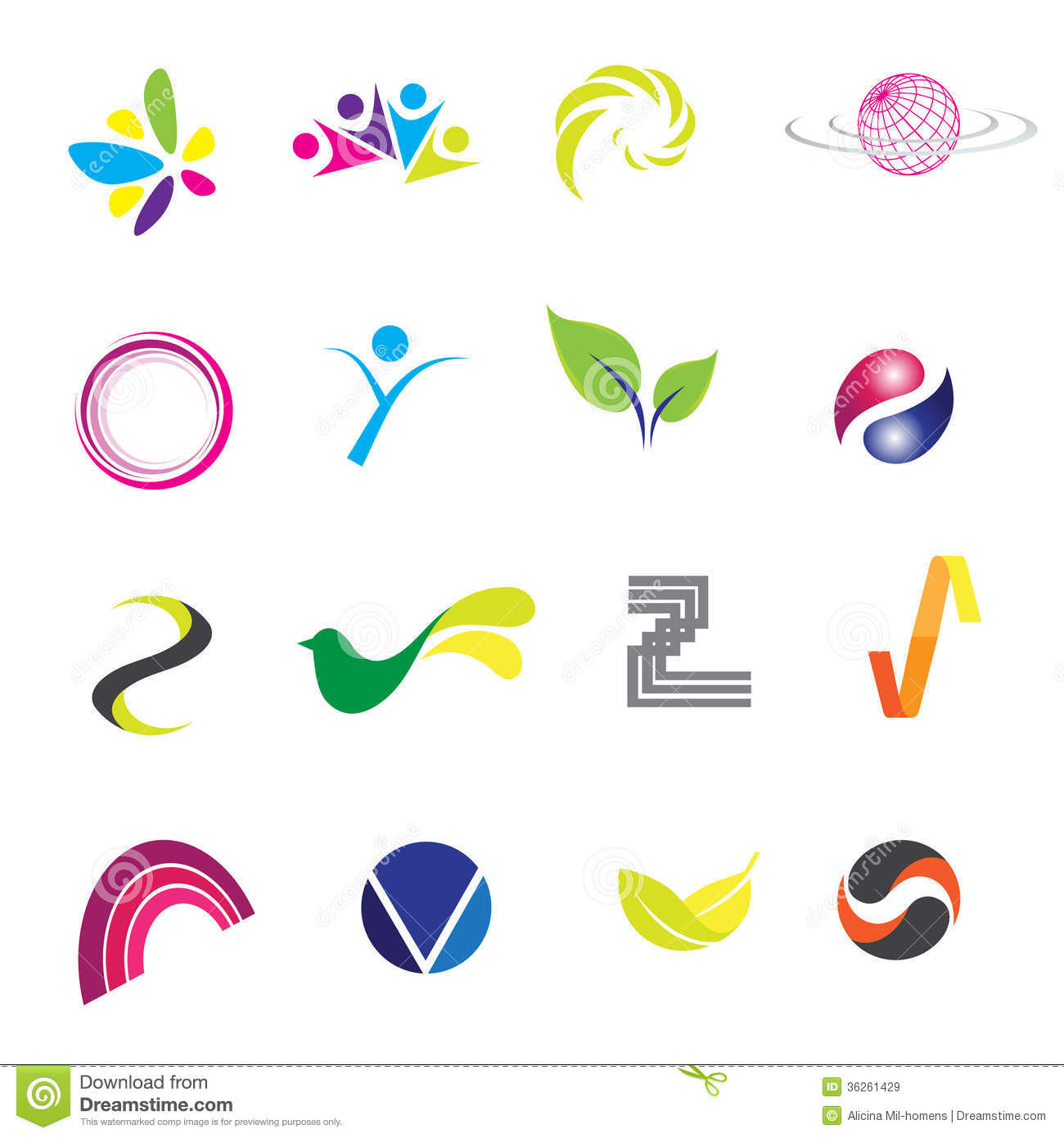 logos stock vector illustration of advertising icon 36261429 rh dreamstime com royalty free logos for commercial use royalty free logo designs