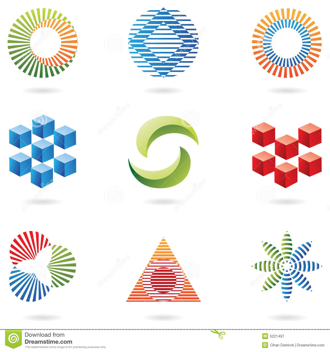 Logos (lines and cubes)