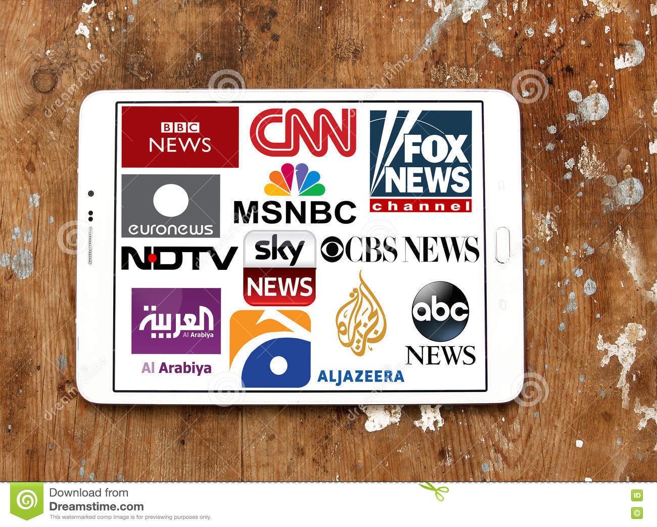 Logos of top famous tv news channels