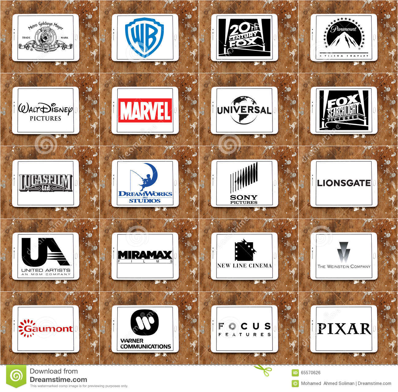 logos and vector of top famous film studios and production
