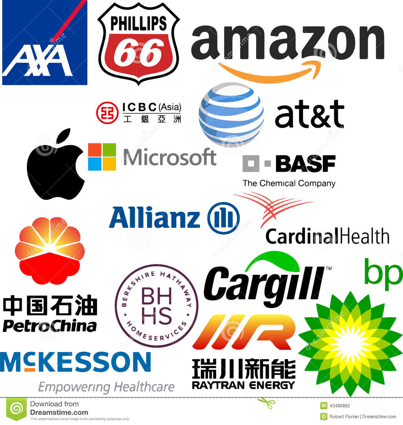 Logos Of The World Largest Companies Editorial Photography