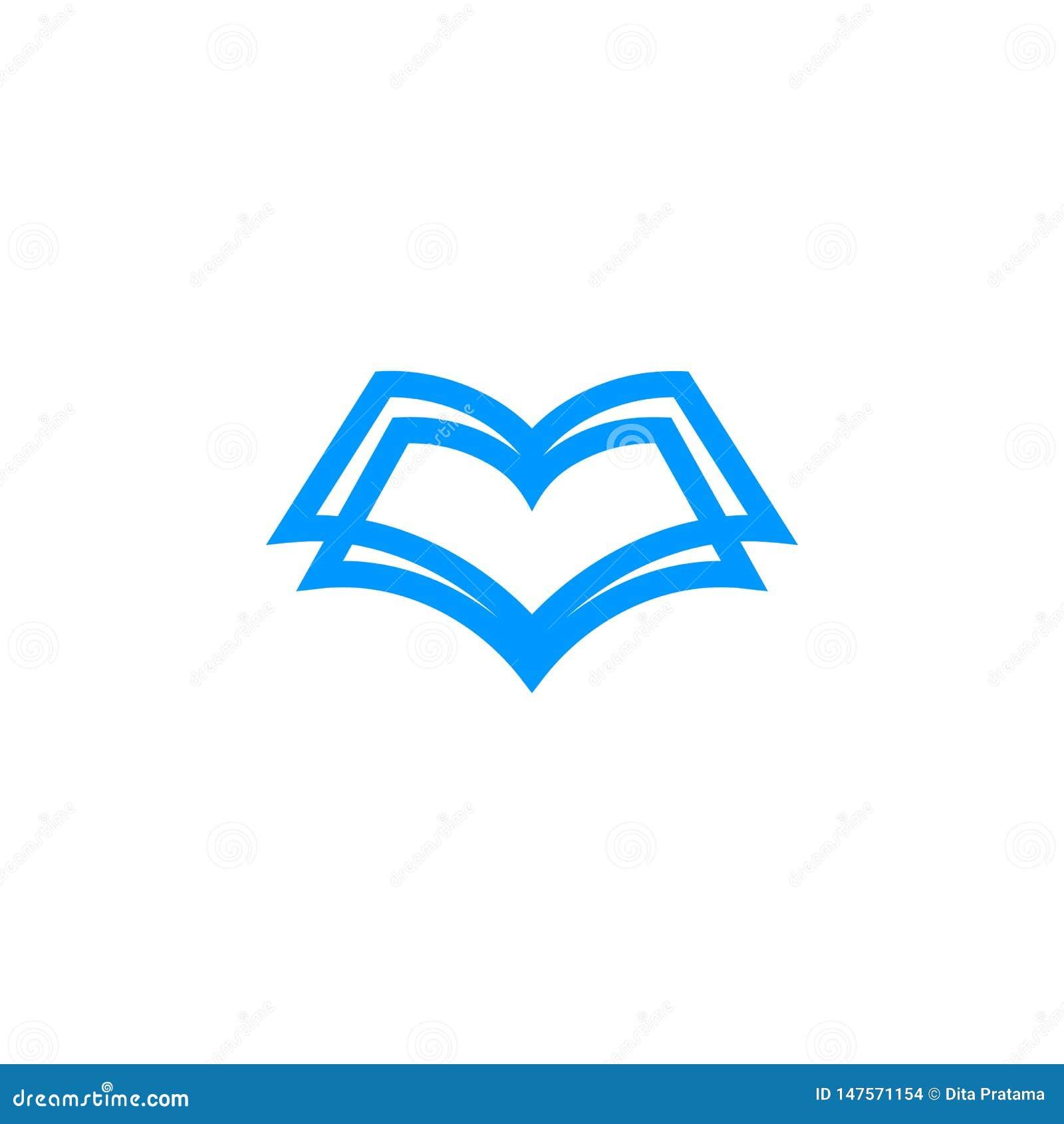 Logotipo único del libro de la forma
