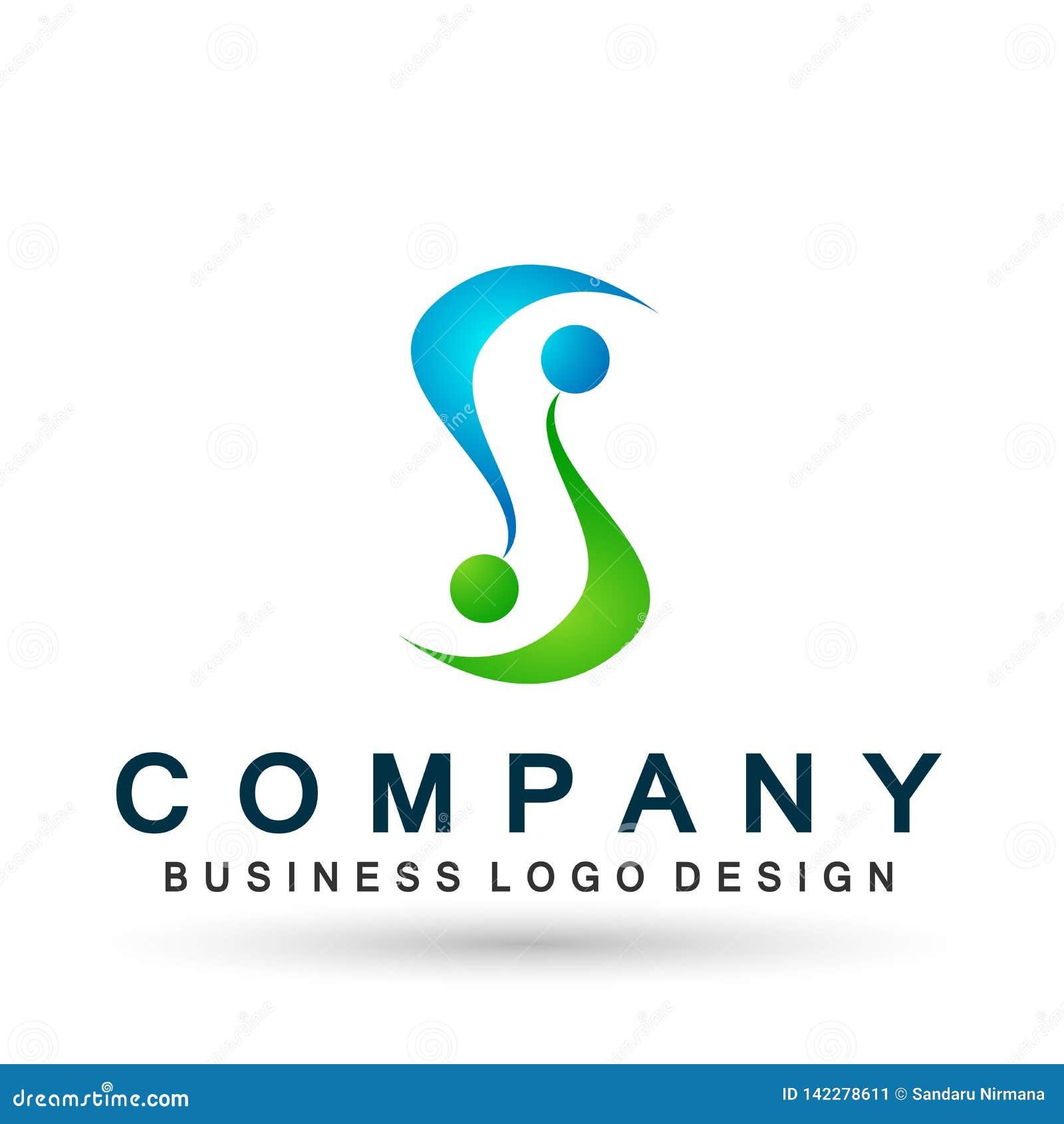 Logotipo abstracto de la celebración de la unión de la gente en logotipo acertado invertido corporativo del negocio Icono del con