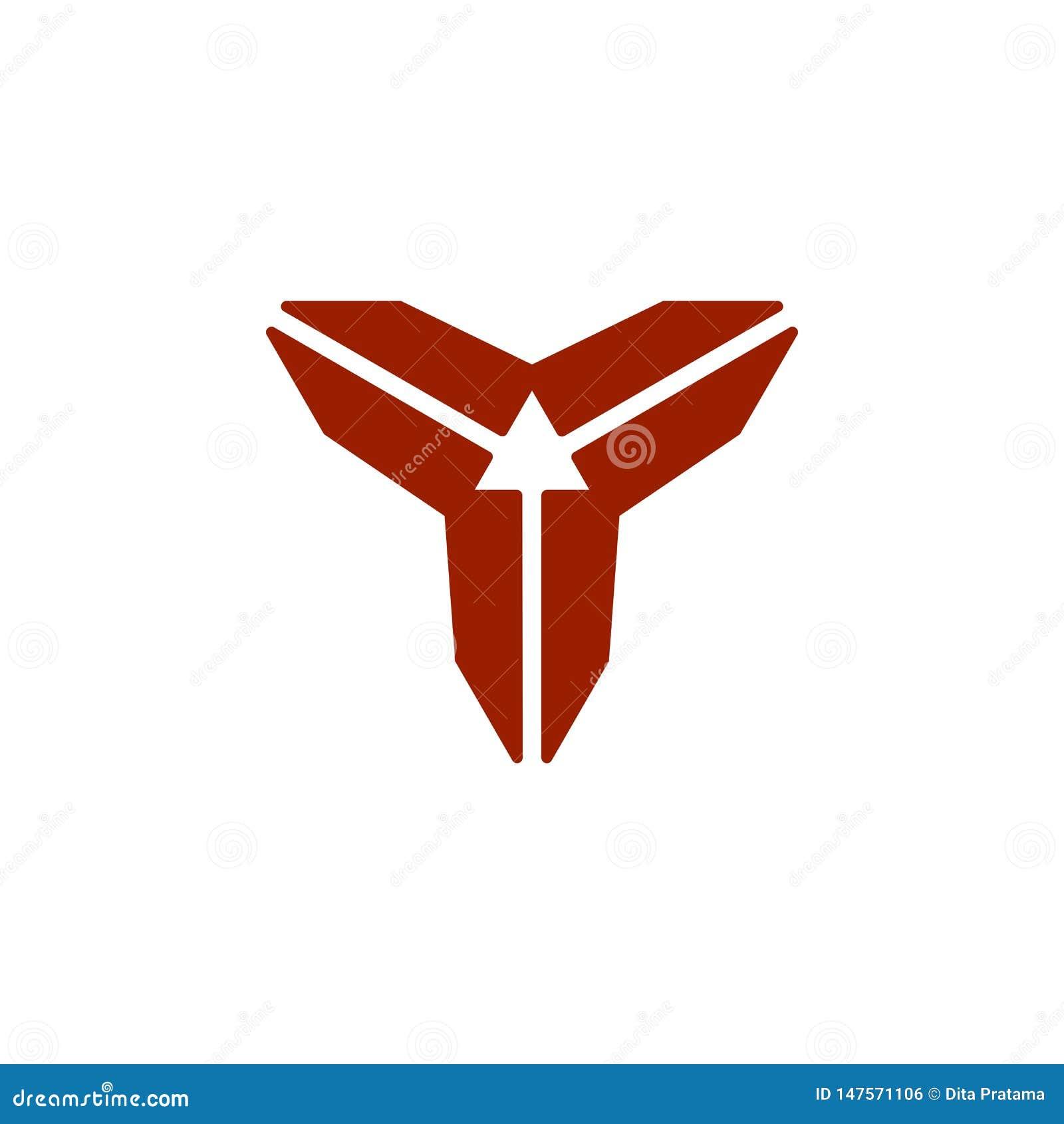 Logotipo abstracto de la dirección de la letra 3 de Y