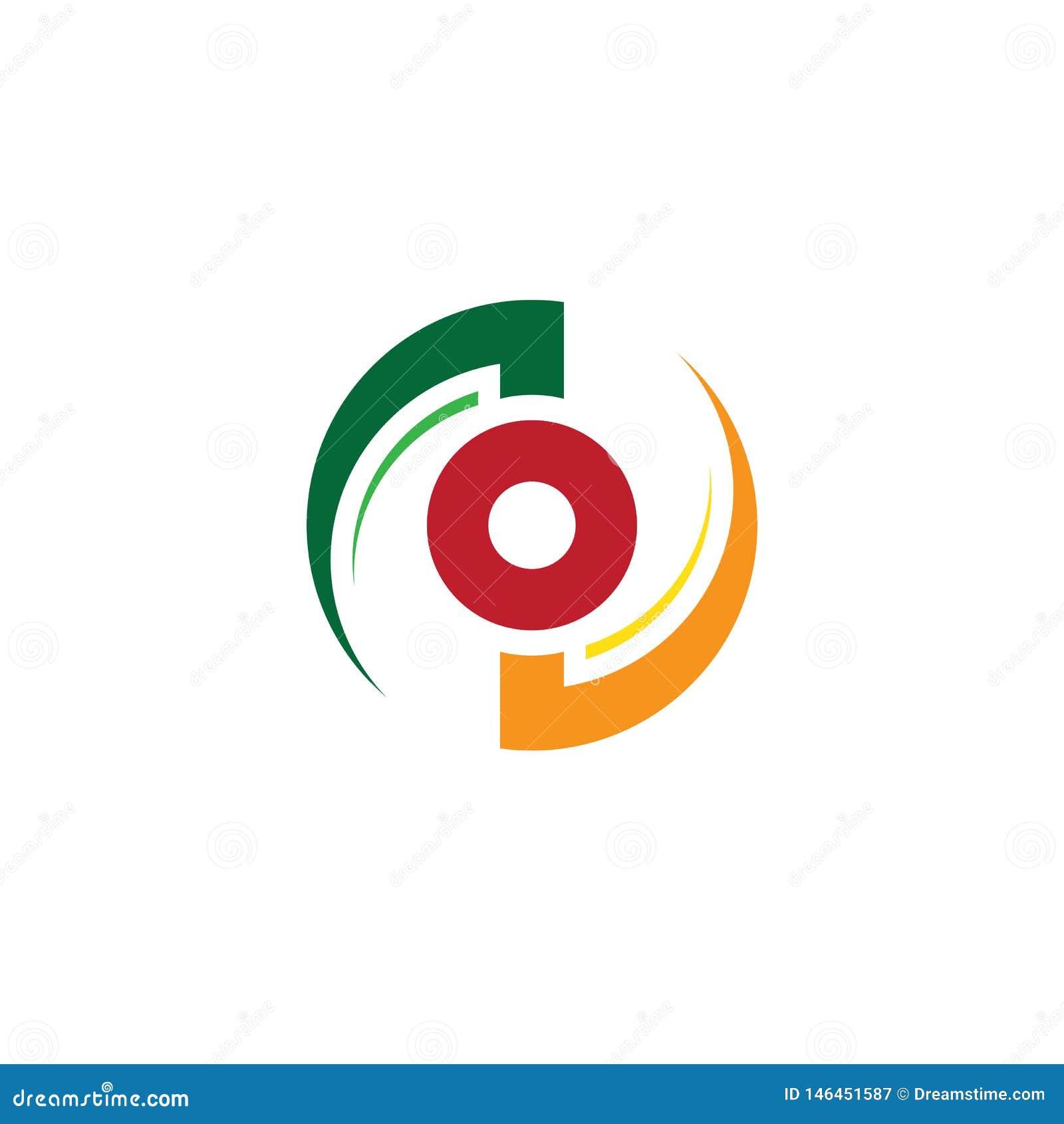 Logotipo abstracto del negocio del remolino del círculo