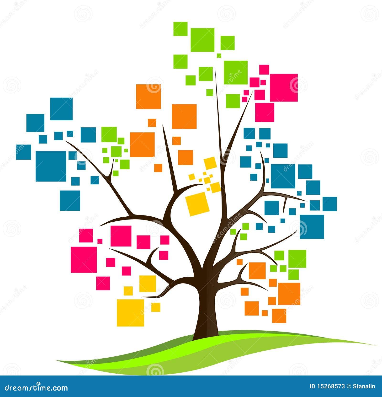 Logotipo abstrato da árvore