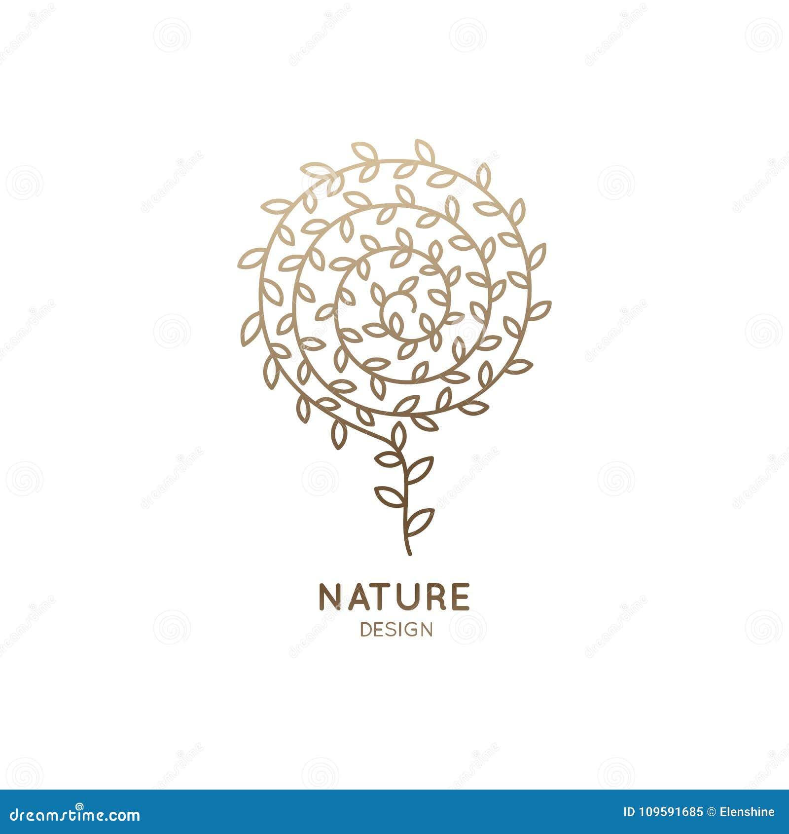 Logotipo abstrato da flor
