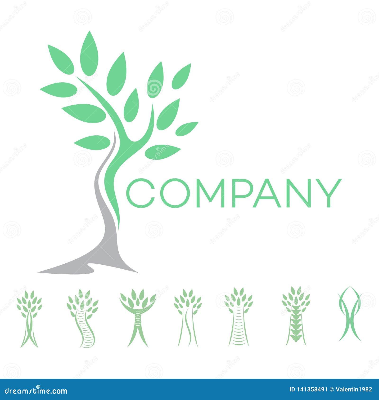 Logotipo abstrato do homem e da árvore