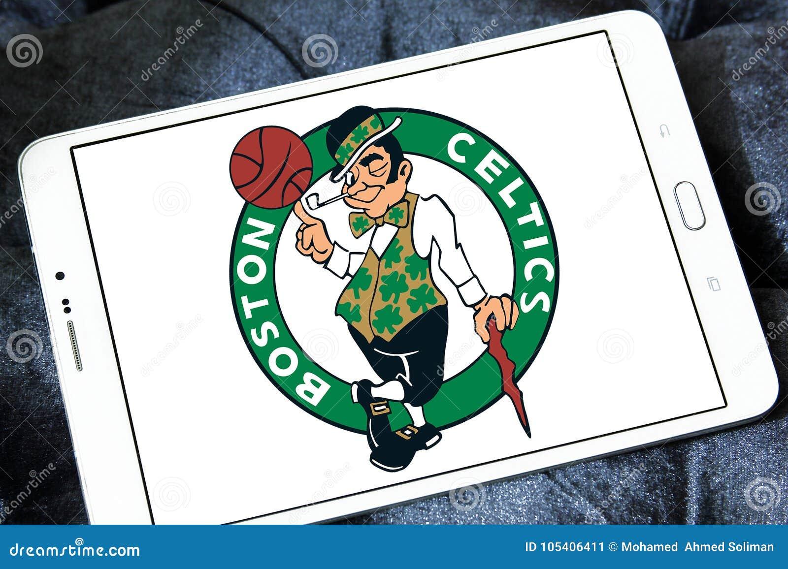 Logotipo americano del equipo de baloncesto de los Celtics de Boston