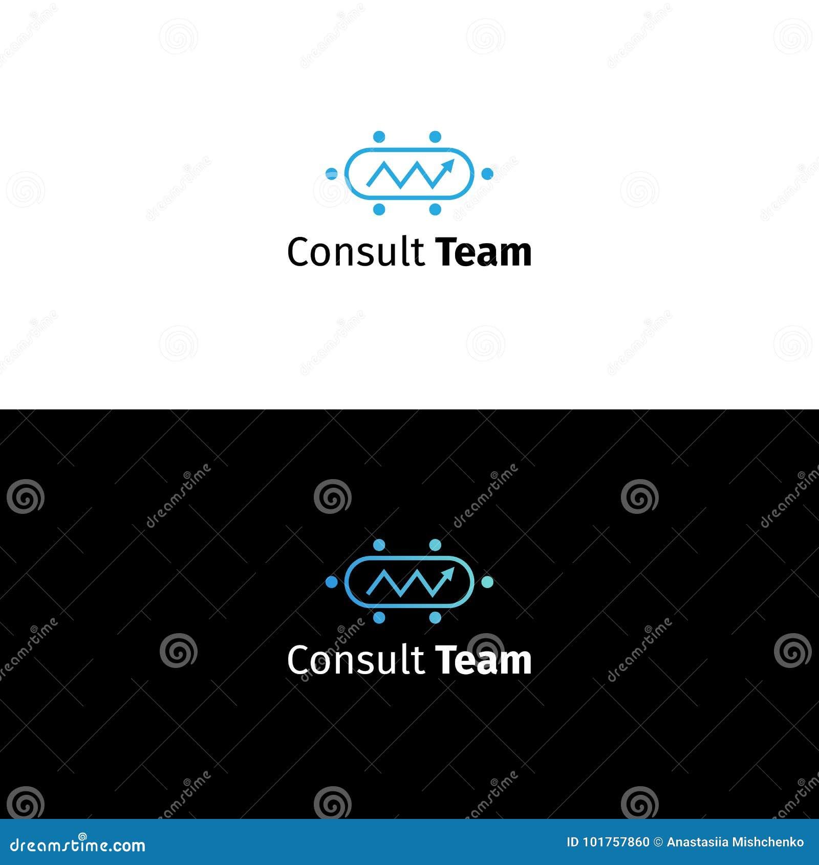 Logotipo asesor del negocio Muestra de la compañía del analytics de los datos