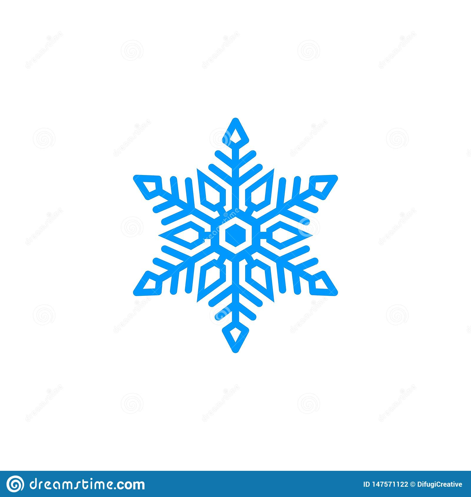 Logotipo azul único de la nieve
