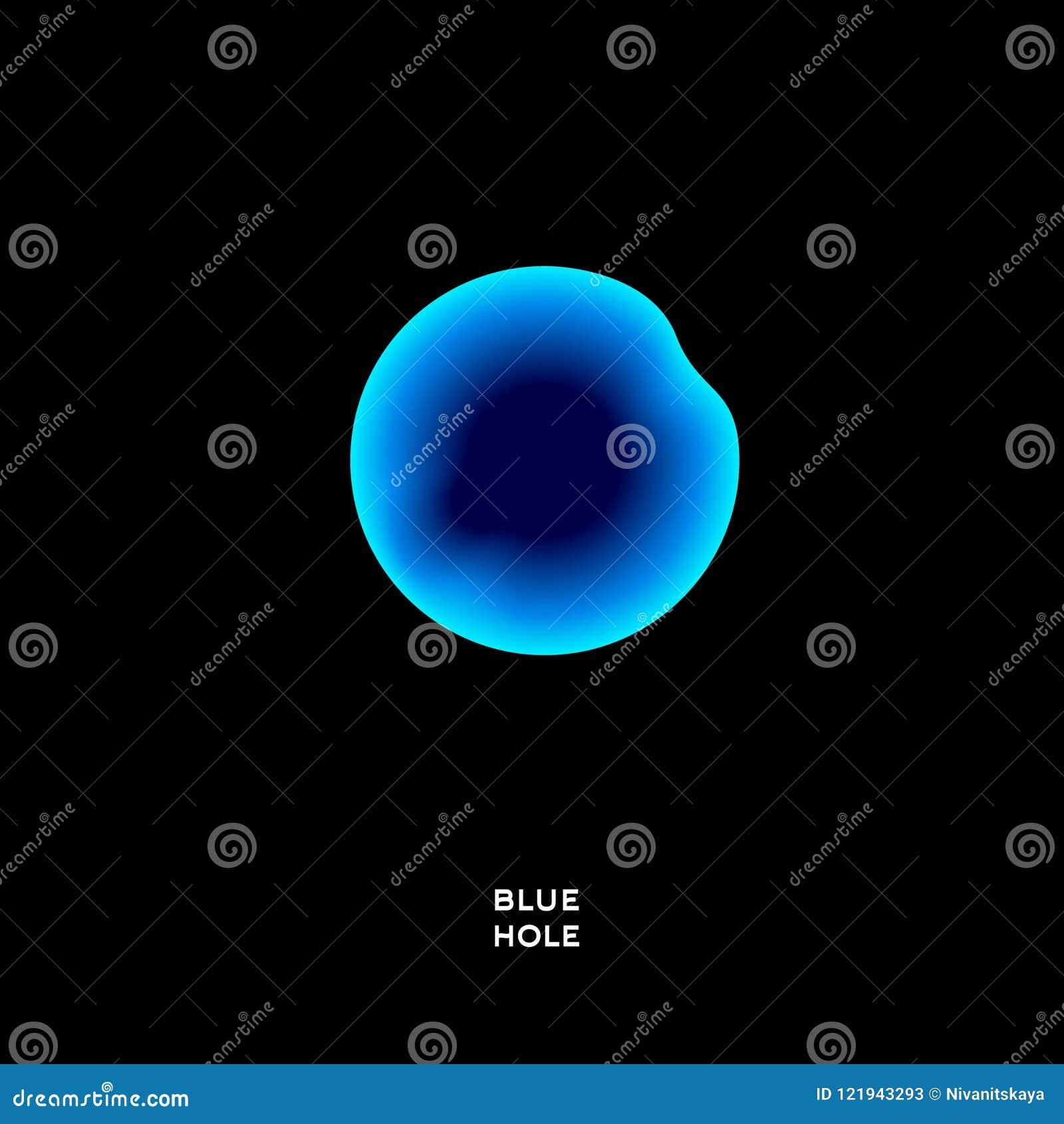 Logotipo azul do mergulho do furo Logotipo azul do mergulho do furo O azul acena em um círculo em um fundo escuro