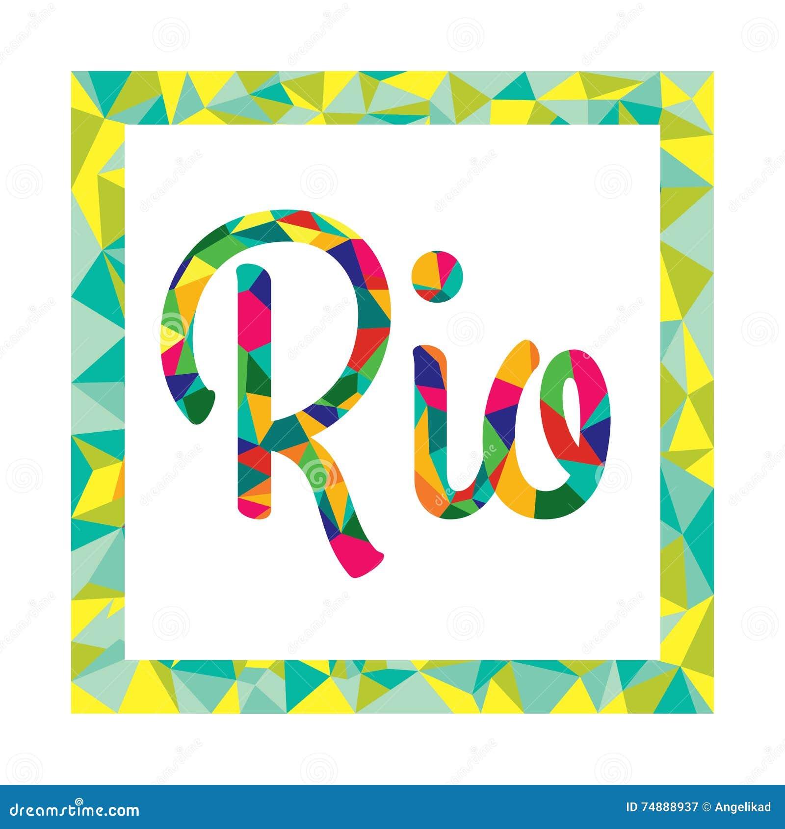 Logotipo brilhante da cor ao estilo de baixo Brasil poli