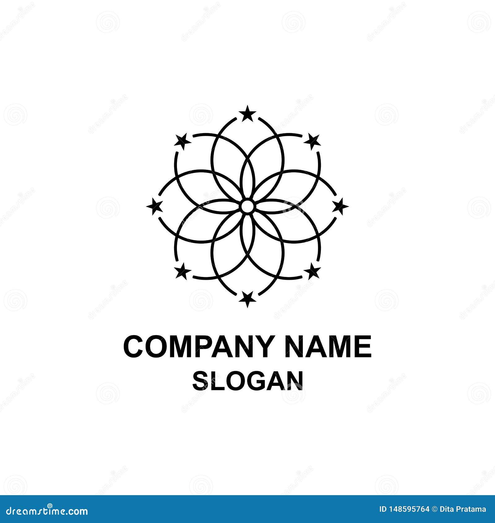 Logotipo chispeante de la estrella