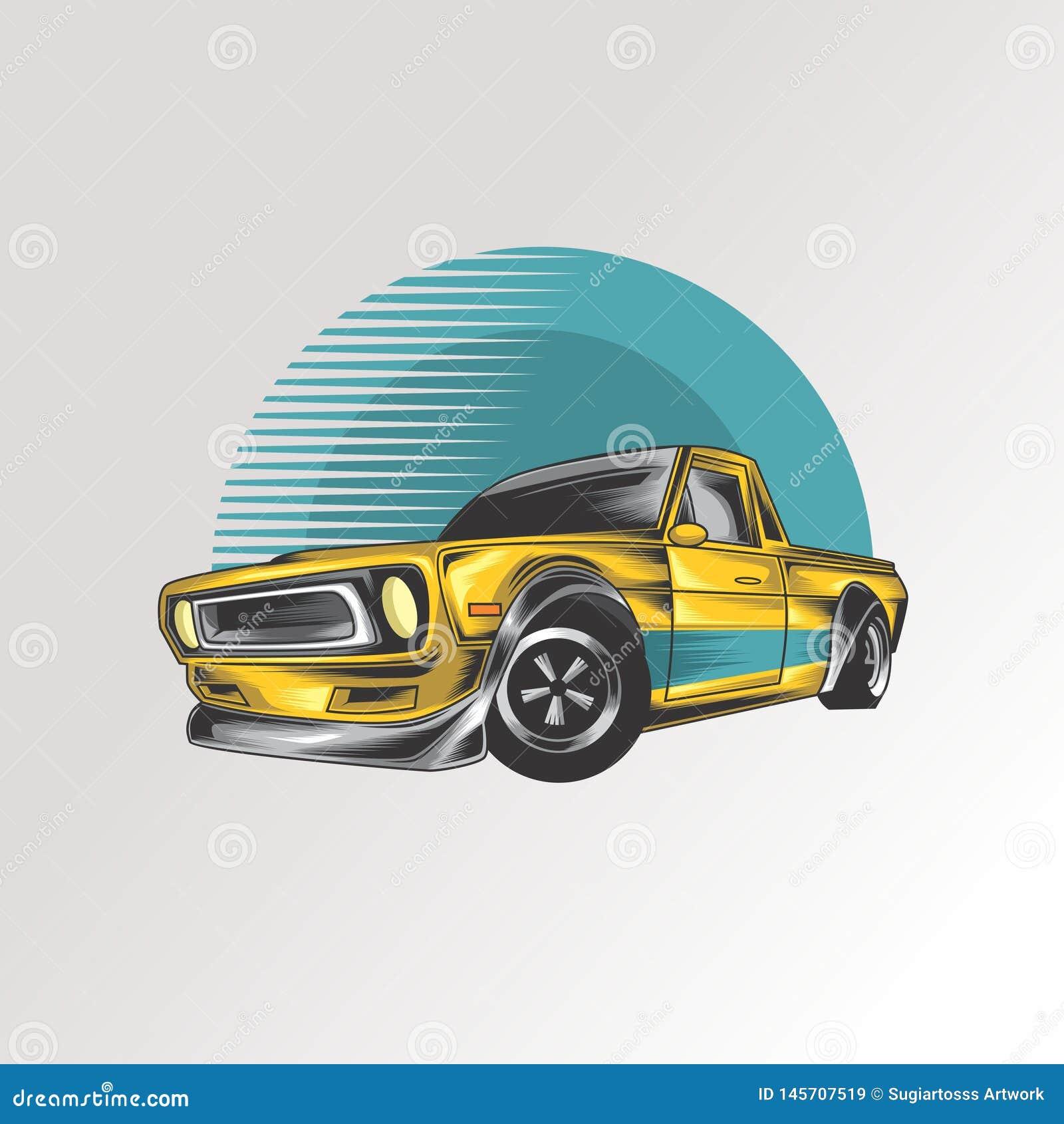 Logotipo clásico del coche del músculo