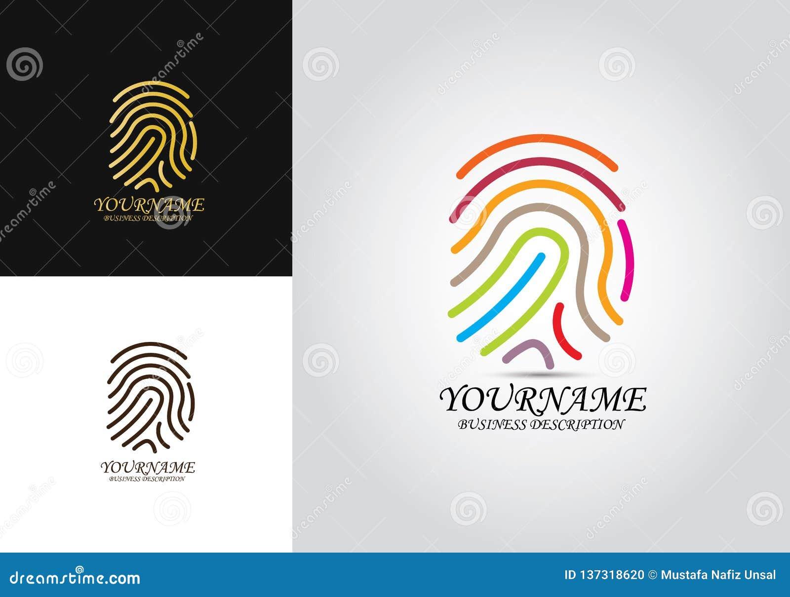 Logotipo colorido impressão digital
