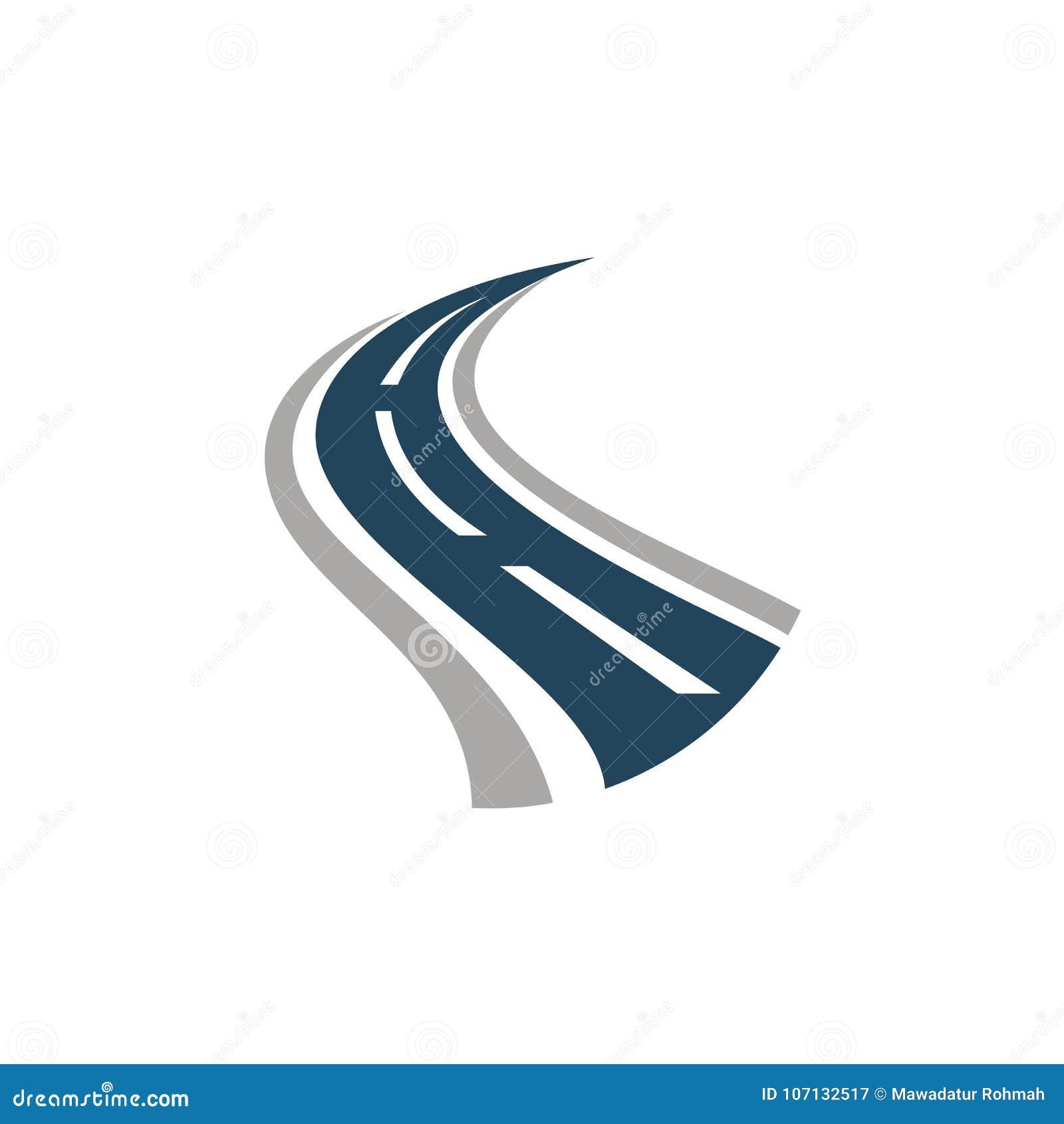 Logotipo creativo de la curva del camino