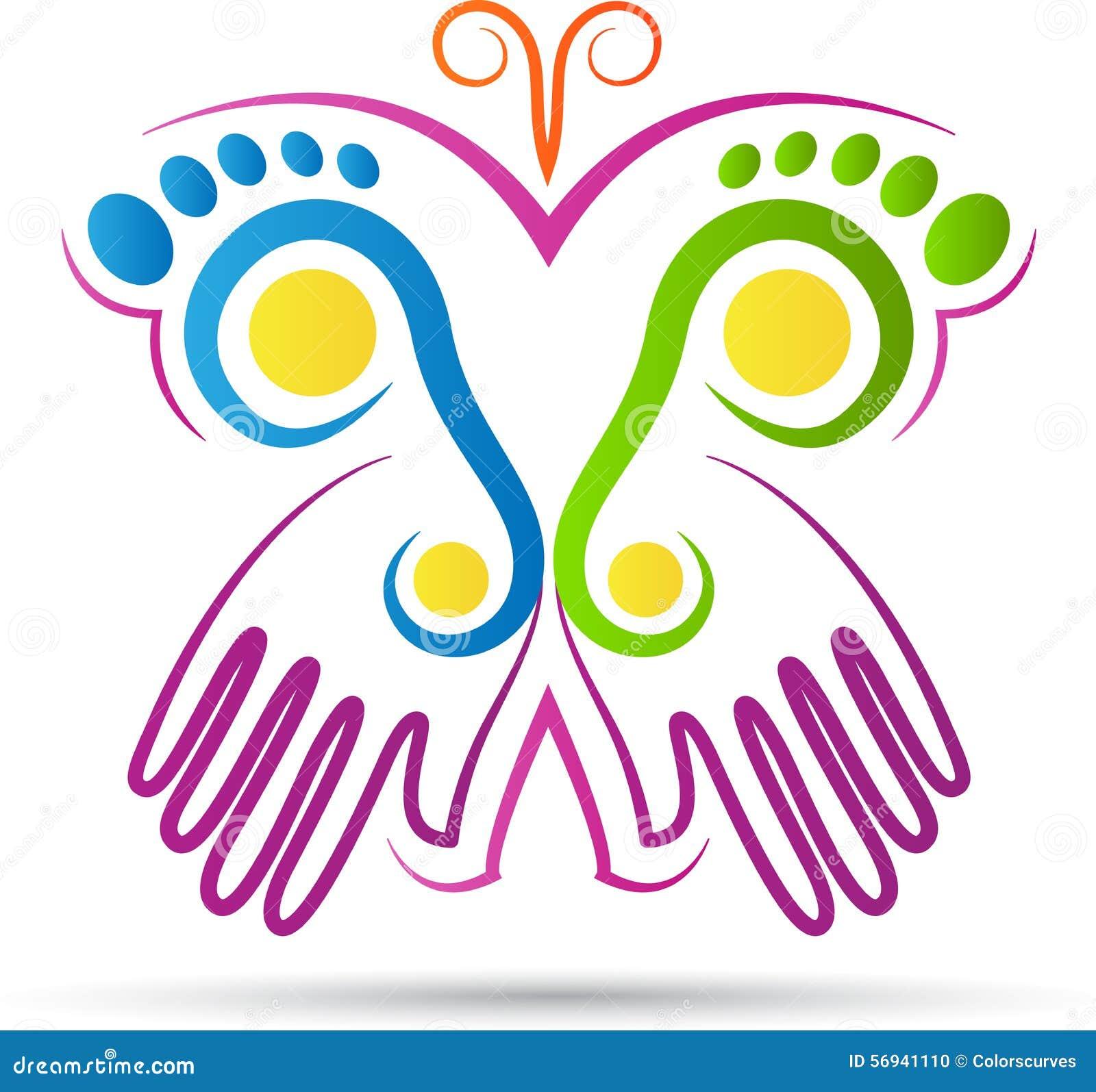 Logotipo creativo de la mariposa