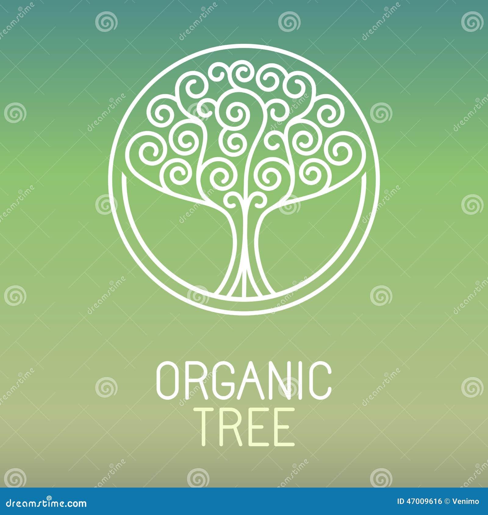 Logotipo da árvore do vetor