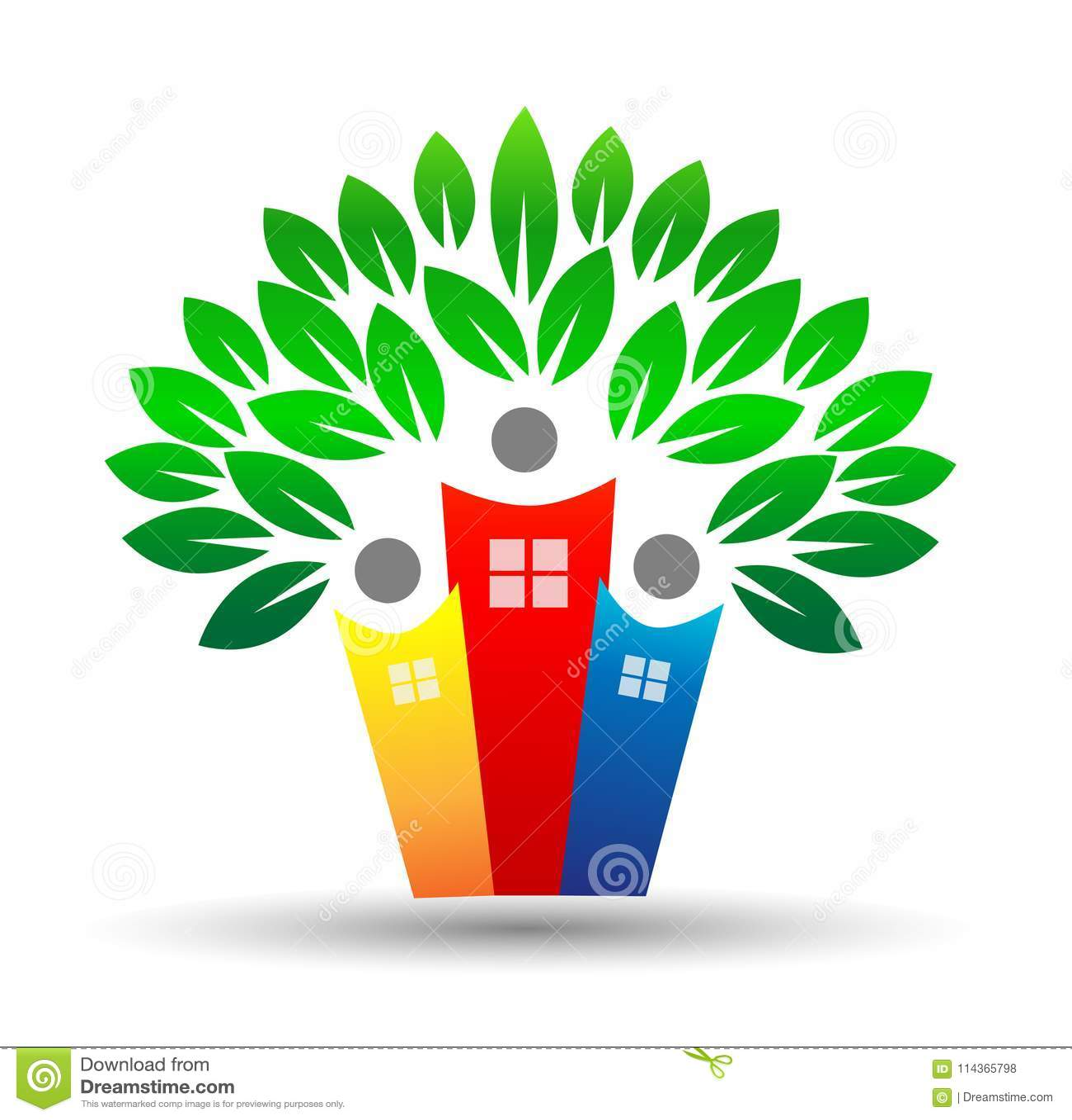 Logotipo da árvore da vida da casa familiar