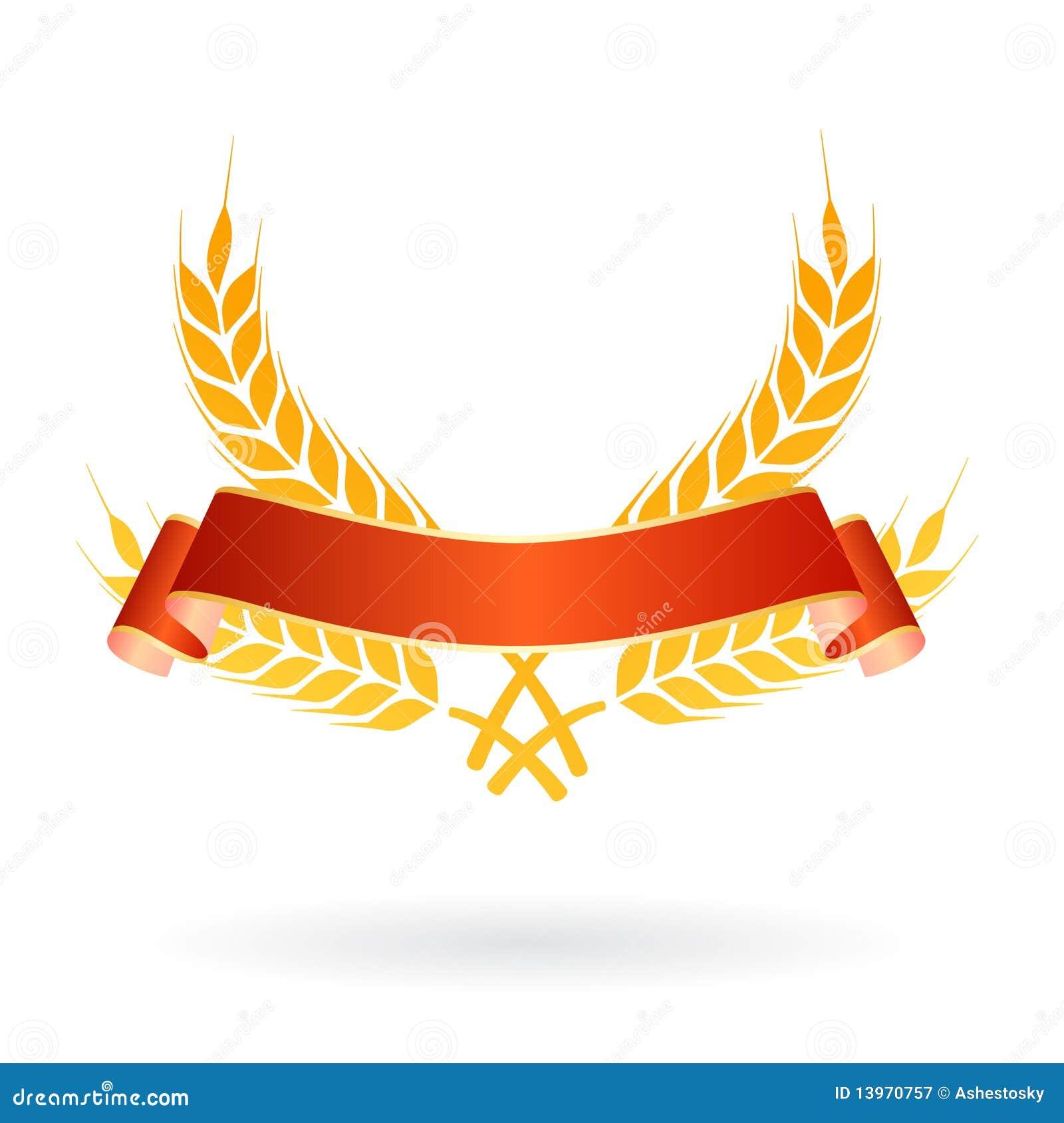 Logotipo da bandeira do alimento do trigo