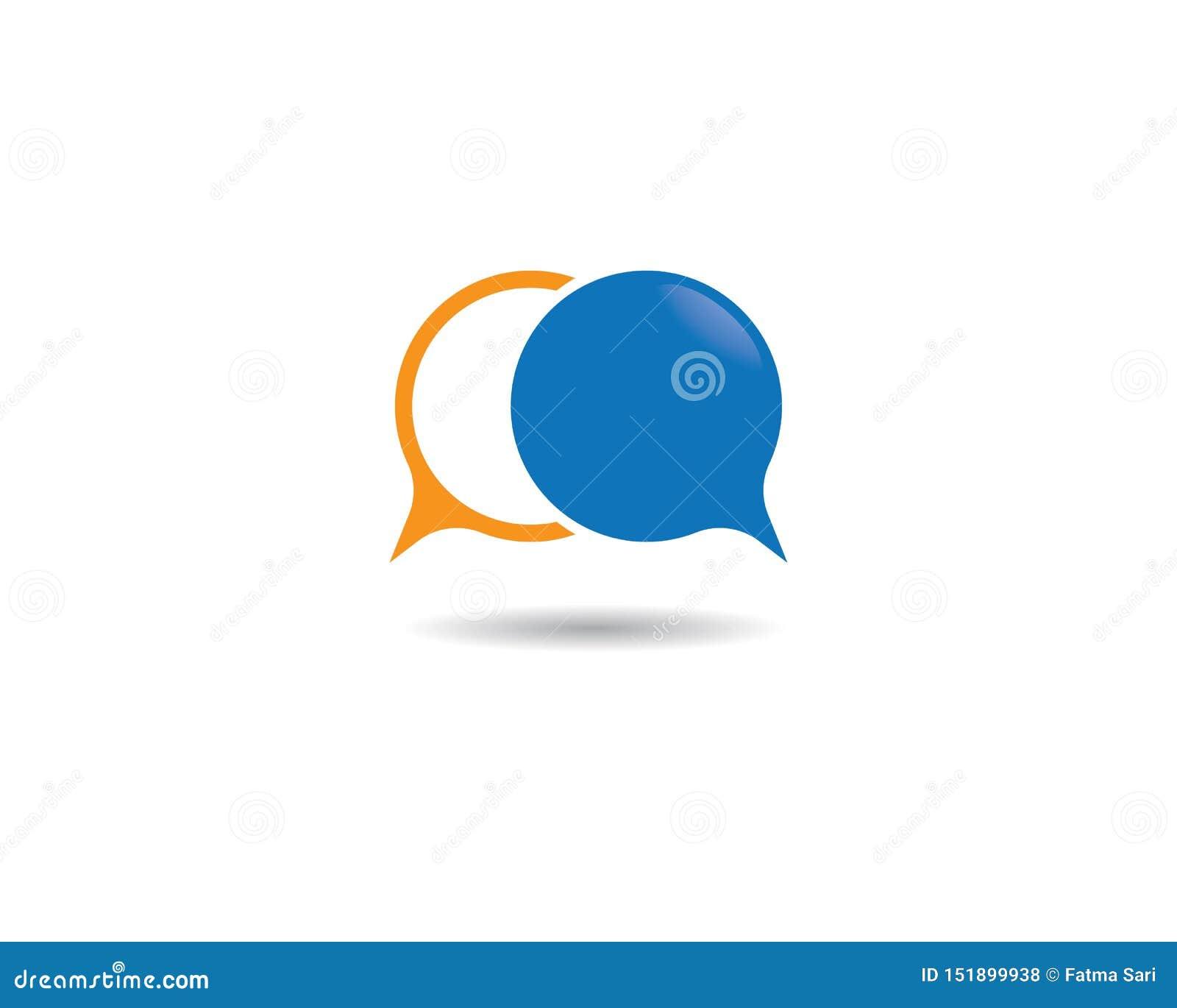 Logotipo da bolha do discurso