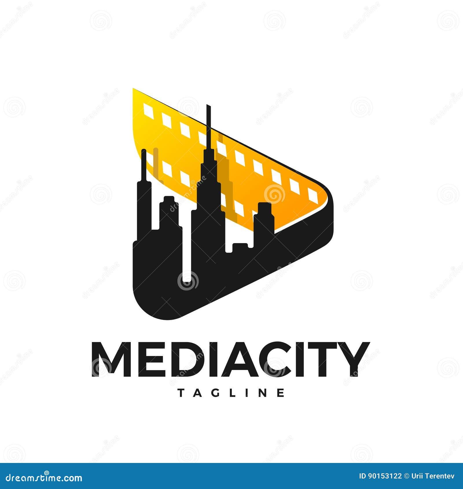 Logotipo da cidade dos meios