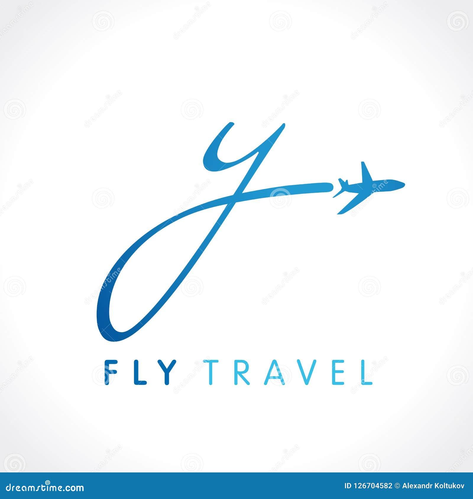 9b1f823ca Projeto de tipo da identidade da viagem de negócios da linha aérea com ` do  ` y da letra Molde do símbolo do vetor do curso da velocidade