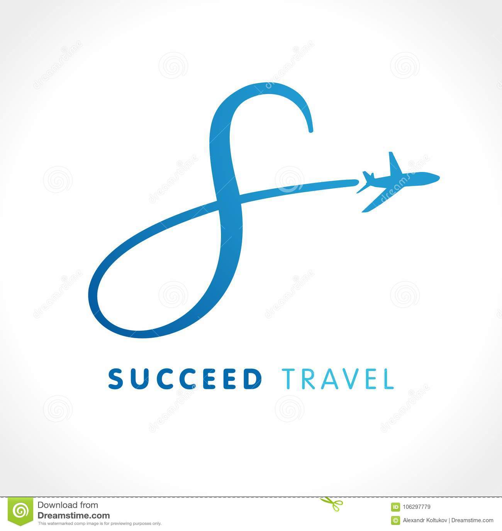 01541cd4b Projeto do logotipo da viagem de negócios da linha aérea com ` do ` s da  letra Molde do logotipo do vetor do curso da velocidade