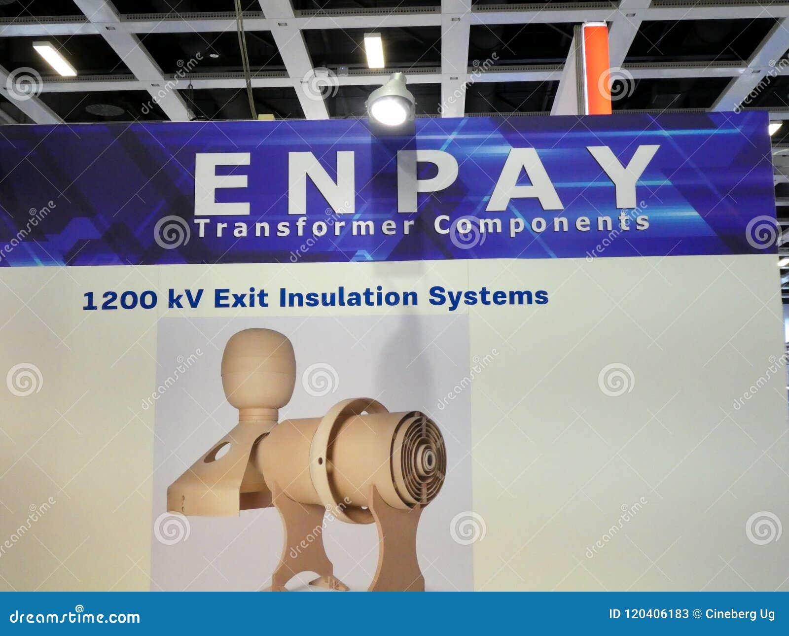 Logotipo da empresa dos componentes do transformador de Enpay